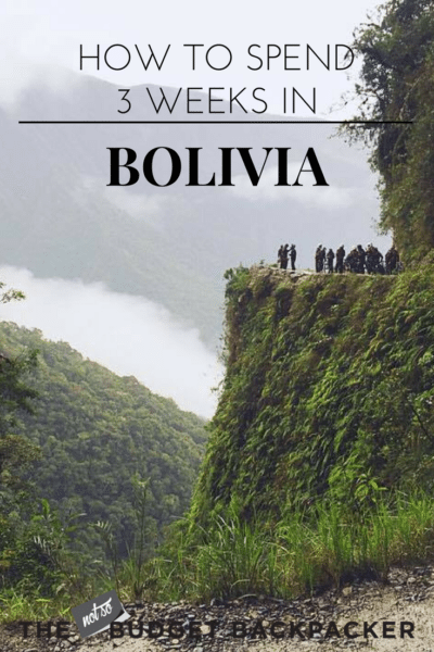 Things to do in Bolivia - pin death road