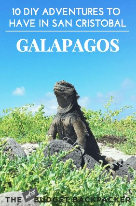 Thing to do in San Cristobal Galapagos - pin 1
