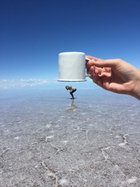 Uyuni salt flats - caught in a cup