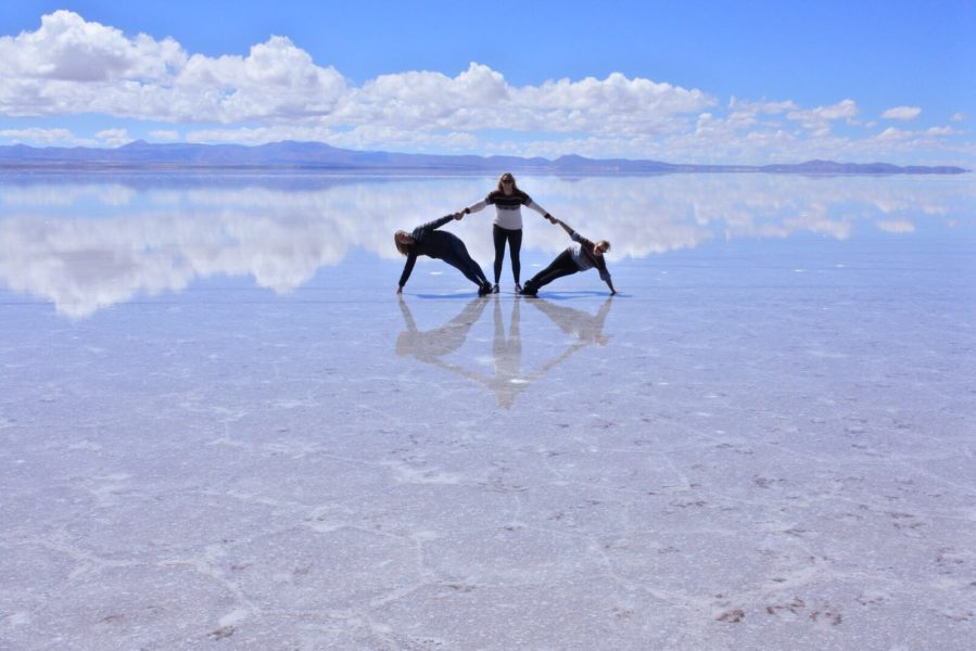 Uyuni salt flats - hexagon