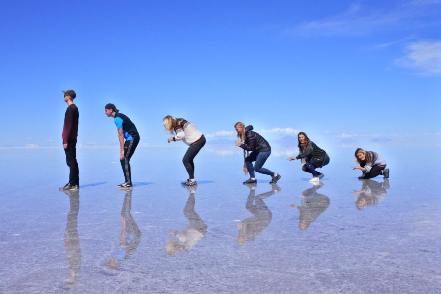 Uyuni salt flats - evolution