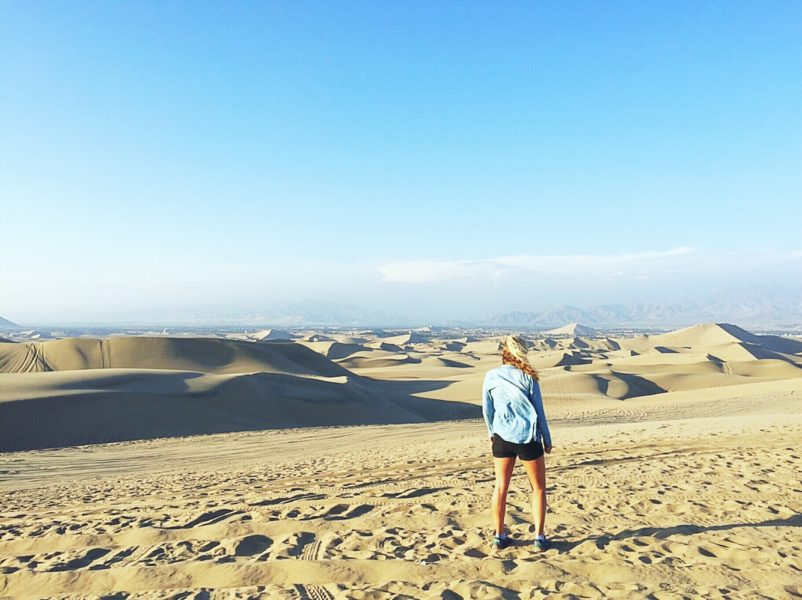 Sandboarding in Peru - the view