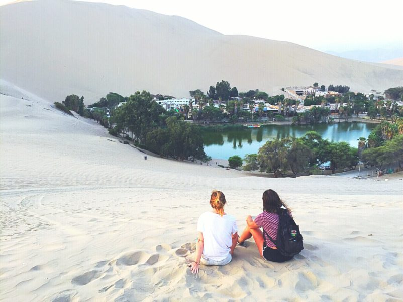 Sandboarding in Peru - Watching sunset