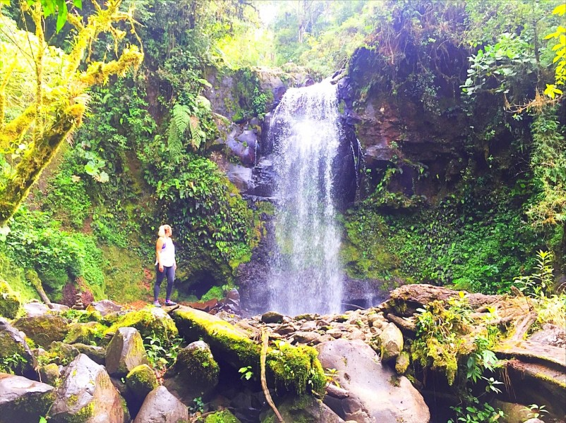 Things to do in Boquete Panama - girl with waterfall