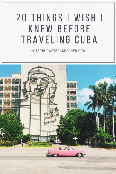 Things to know before traveling to Cuba - Pin