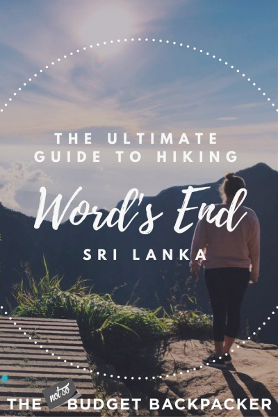World's End Sri Lanka - Pin