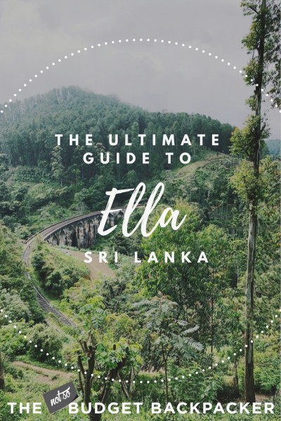Things to do in Ella Sri Lanka - Pin